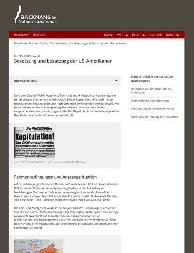 Backnang im NationalsozialismusGehe zu