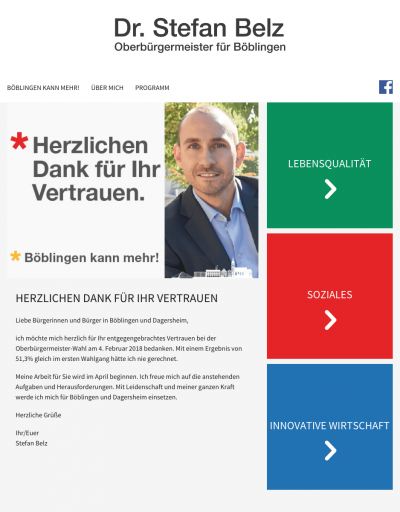 OB-Kandidat Dr. Stefan BelzGehe zu