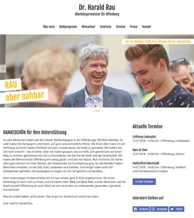 OB-Kandidat Dr. Harald RauGehe zu