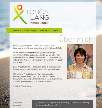 Kinesiologie Tosca LangGehe zu