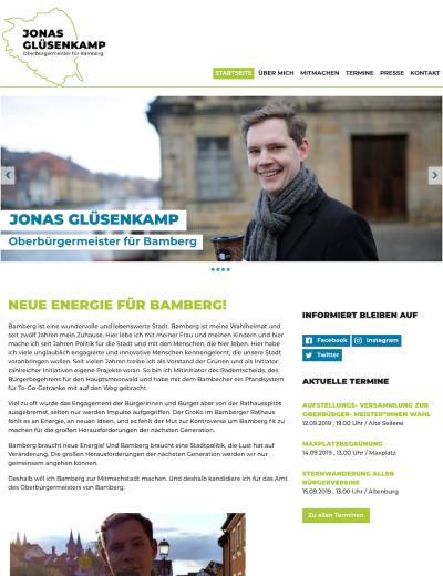 Besuche OB-Kandidat Jonas Glüsenkamp